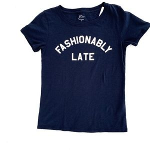 JCrew Fashionably Late Tee